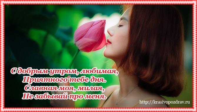 Доброе утро картинки красивые со стихами про любовь014