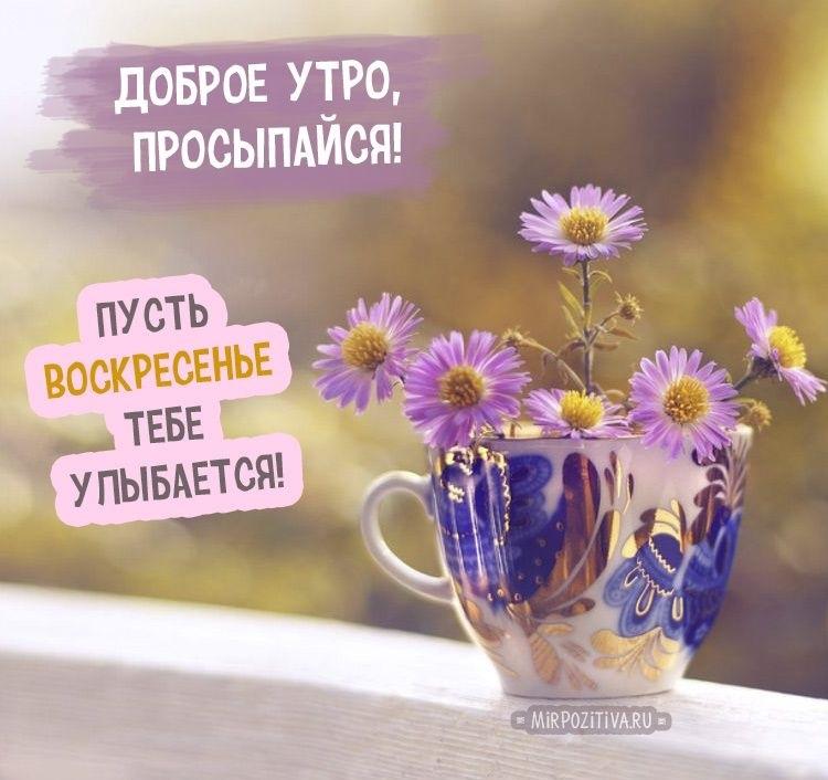 Доброе утро картинки красивые с надписью воскресенье023