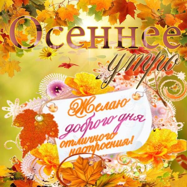Доброе утро осень - очень красивые открытки (6)