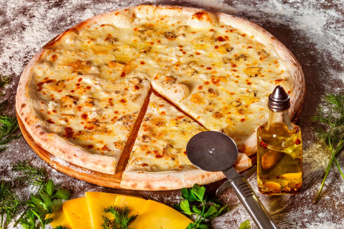 Домашняя пицца с сыром   рецепт и приготовление