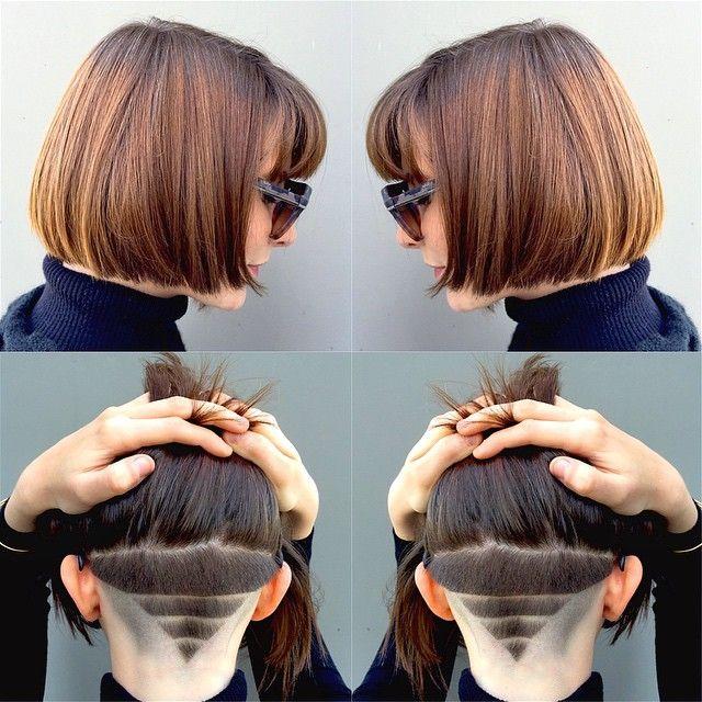 Женские рисунки на волосах машинкой (14)