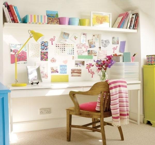 Идеи оформление рабочего стола для девочки своими руками006