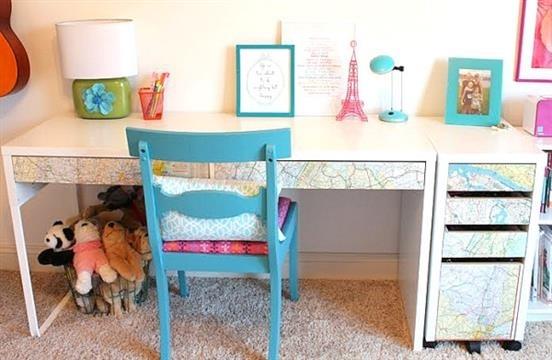 Идеи оформление рабочего стола для девочки своими руками016