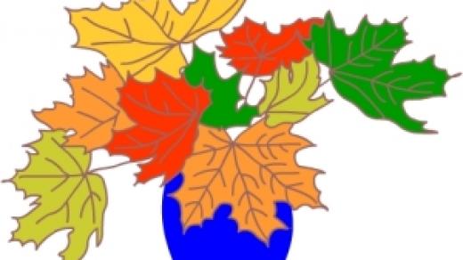 Как нарисовать вазу с осенними листьями поэтапно   подборка (1)