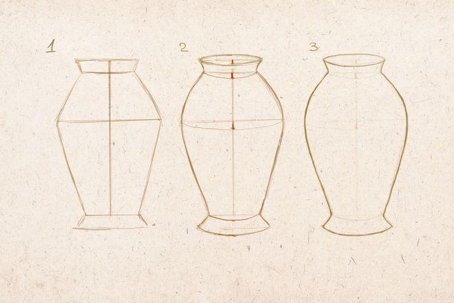 Как нарисовать вазу с осенними листьями поэтапно - подборка (11)