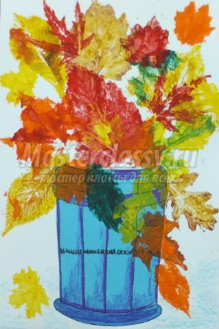 Как нарисовать вазу с осенними листьями поэтапно - подборка (13)