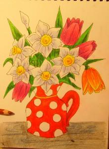 Как нарисовать вазу с осенними листьями поэтапно - подборка (15)