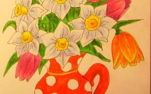 Как нарисовать вазу с осенними листьями поэтапно - подборка (16)