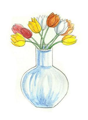 Как нарисовать вазу с осенними листьями поэтапно - подборка (17)