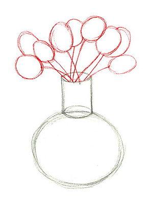 Как нарисовать вазу с осенними листьями поэтапно - подборка (19)