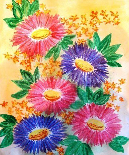 Как нарисовать вазу с осенними листьями поэтапно - подборка (2)