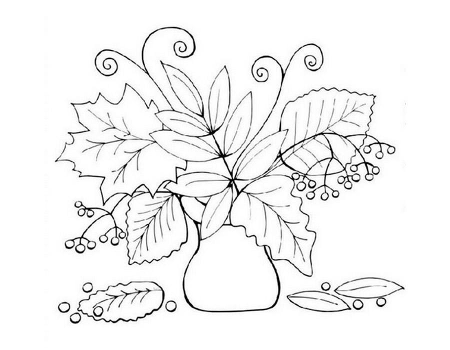 Как нарисовать вазу с осенними листьями поэтапно - подборка (31)