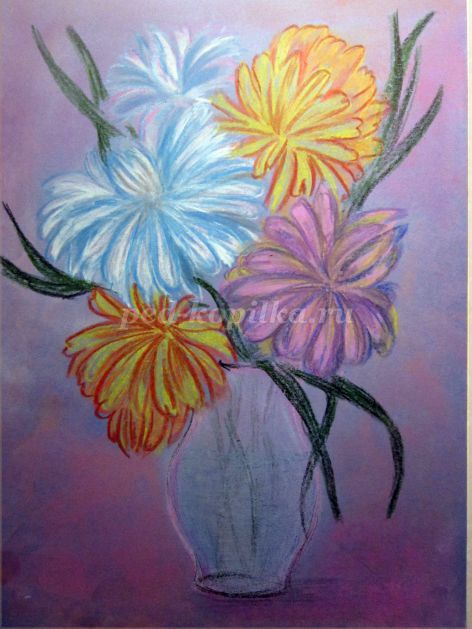 Как нарисовать вазу с осенними листьями поэтапно - подборка (5)