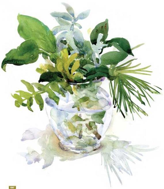 Как нарисовать вазу с осенними листьями поэтапно - подборка (6)