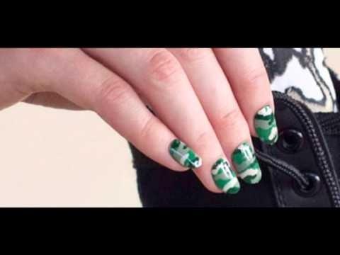 Как на ногтях нарисовать камуфляж008