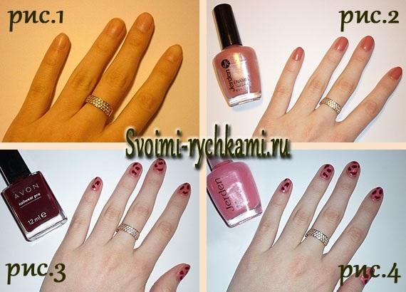 Как на ногтях нарисовать камуфляж013