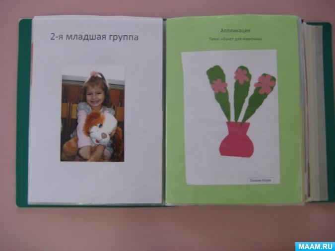 Как оформить папку для рисунков в детском саду - фото идеи006