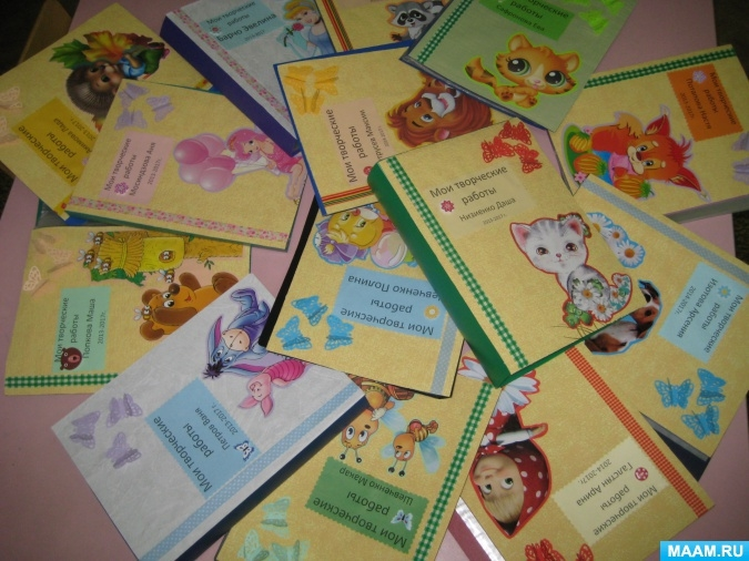 Как оформить папку для рисунков в детском саду - фото идеи021