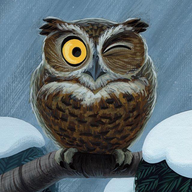 Как раскрасить гуашью сову - идеи и картинки (10)
