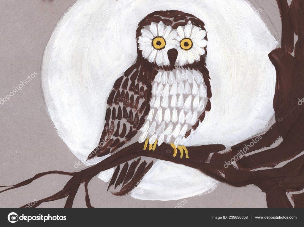 Как раскрасить гуашью сову - идеи и картинки (27)