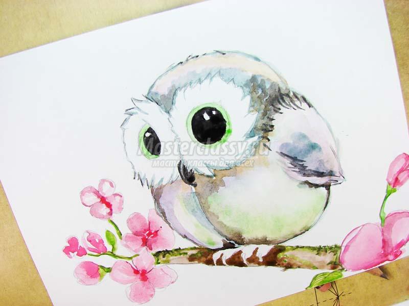 Как раскрасить гуашью сову - идеи и картинки (3)