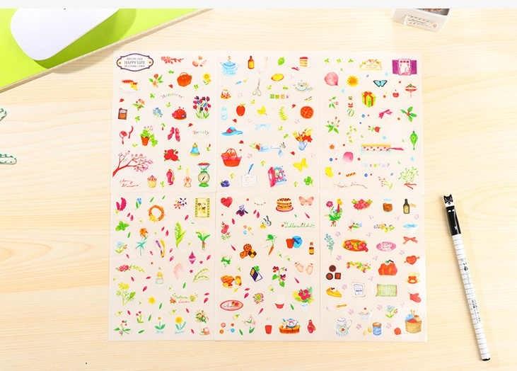 Как украсить тетрадь наклейками003