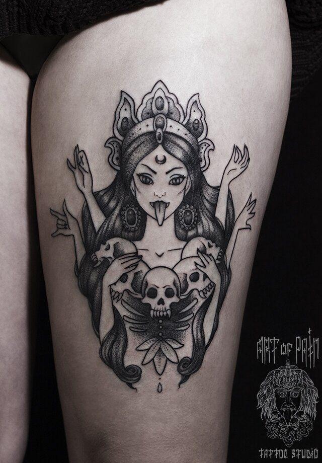 Кали богиня тату - эскизы с фото (12)