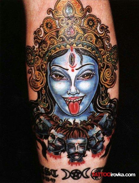 Кали богиня тату - эскизы с фото (16)