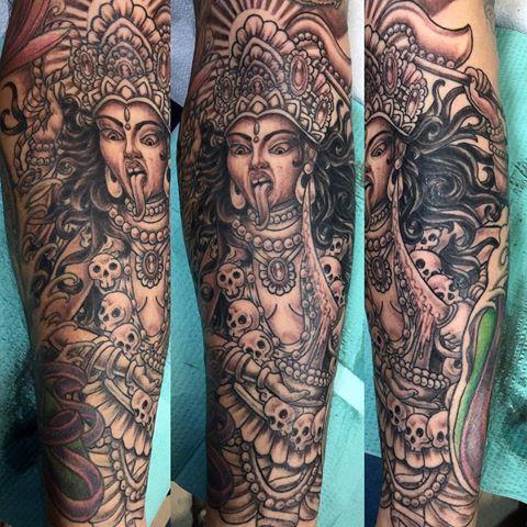 Кали богиня тату - эскизы с фото (17)