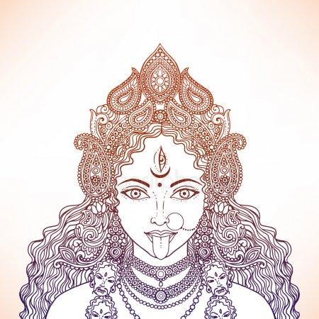 Кали богиня тату - эскизы с фото (4)