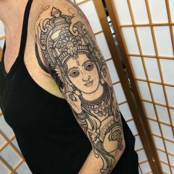 Кали богиня тату - эскизы с фото (5)