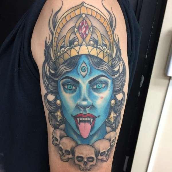 Кали богиня тату - эскизы с фото (6)