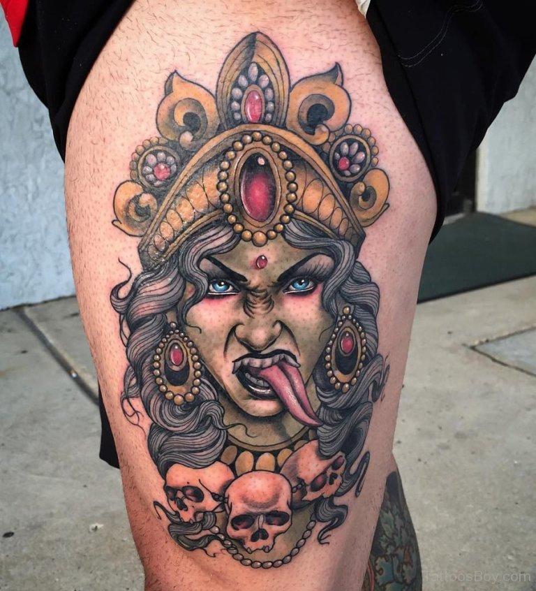 Кали богиня тату - эскизы с фото (9)