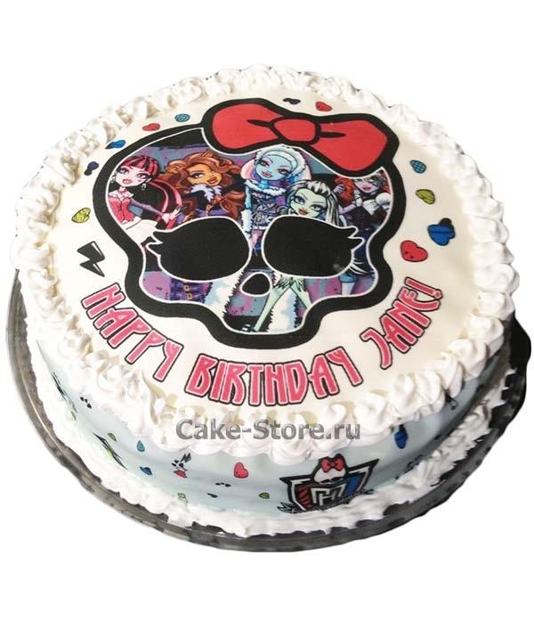 Картинка на торт Монстр Хай005