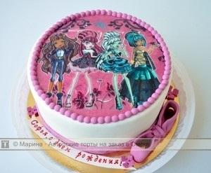 Картинка на торт Монстр Хай006