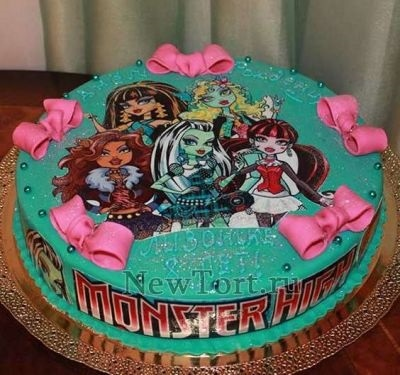 Картинка на торт Монстр Хай008