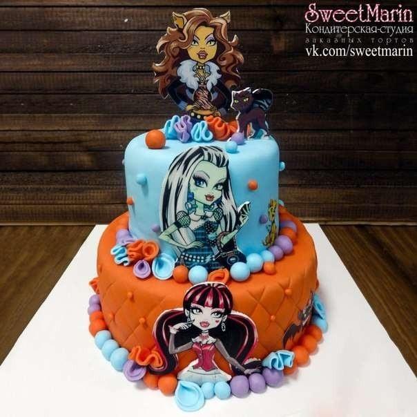 Картинка на торт Монстр Хай013
