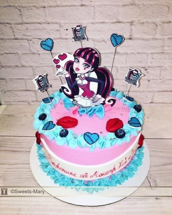Картинка на торт Монстр Хай014