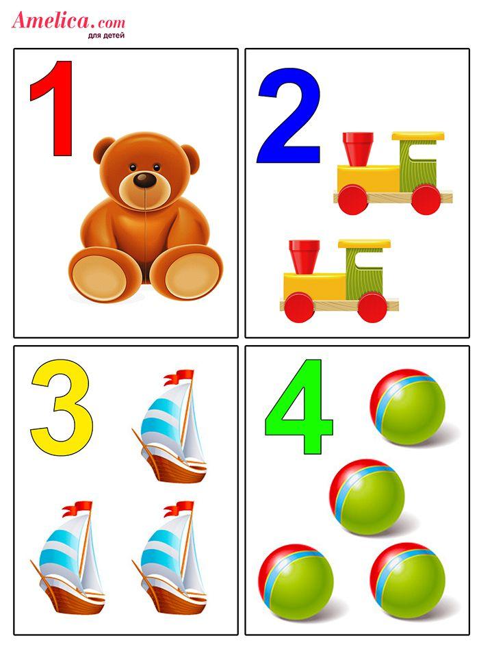 Учим цифры цифра и картинка