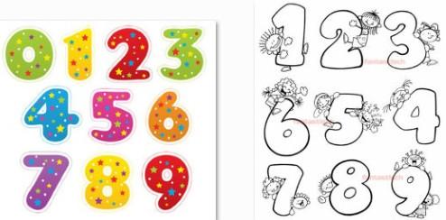 Картинки для детей цифры на прозрачном фоне (19)