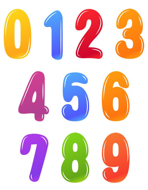 Картинки для детей цифры на прозрачном фоне (3)