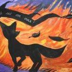 Картинки и рисунки на тему пожар в лесу