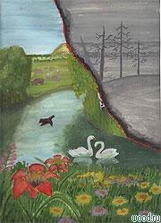 Картинки и рисунки на тему пожар в лесу016