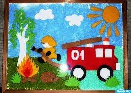 Картинки и рисунки на тему пожар в лесу024