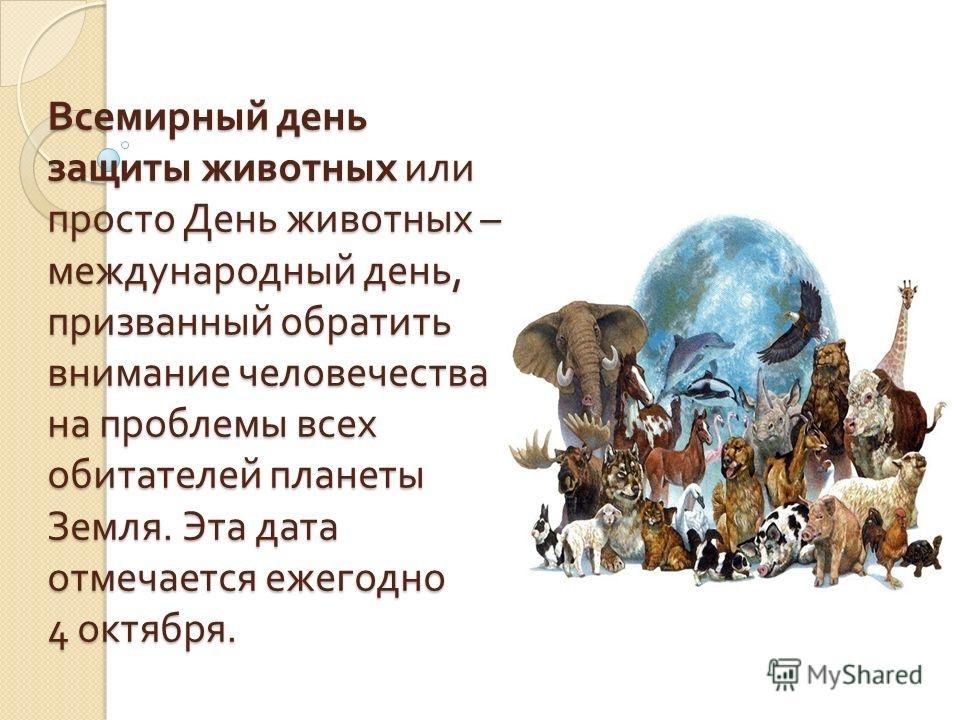 Картинки на всемирный день животных 4 октября006