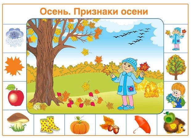 Картинки осень по месяцам для детей детского сада001