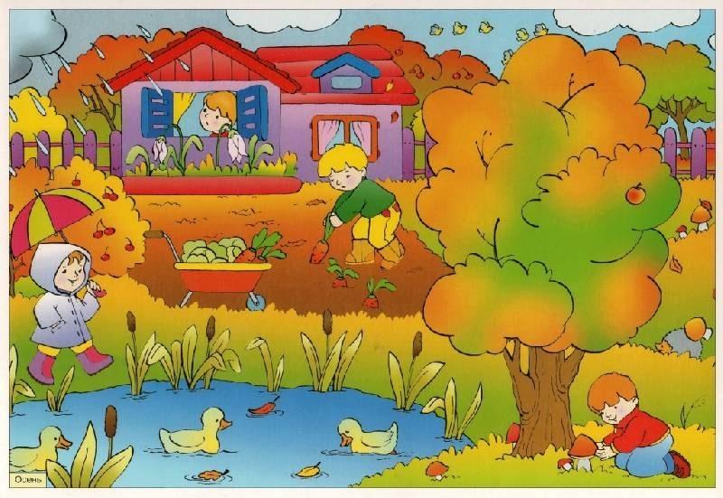 Картинки осень по месяцам для детей детского сада006