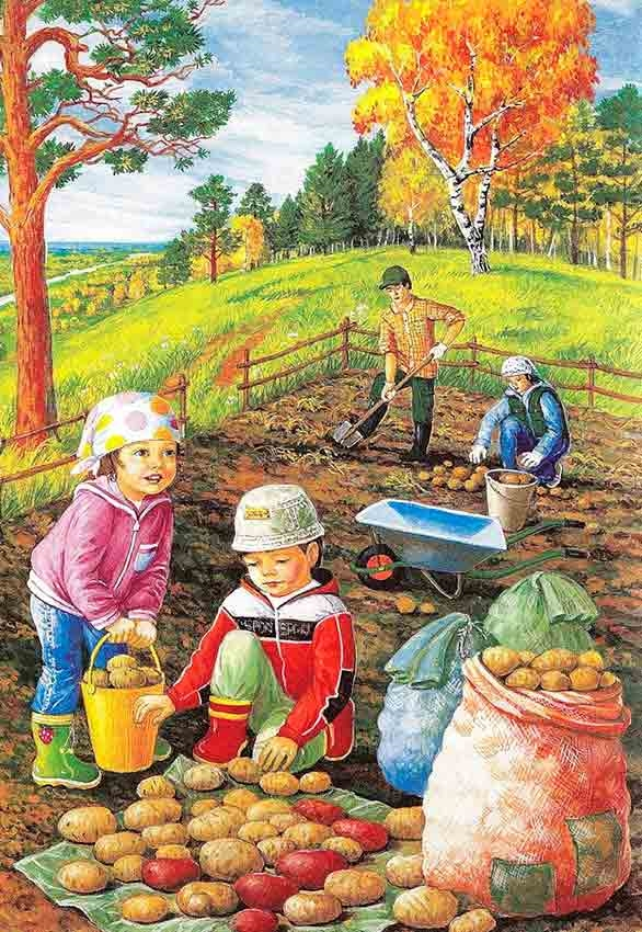 Картинки осень по месяцам для детей детского сада016