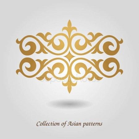 Картинки рамки для фотошопа казахский орнамент013
