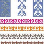 Картинки рамки для фотошопа казахский орнамент